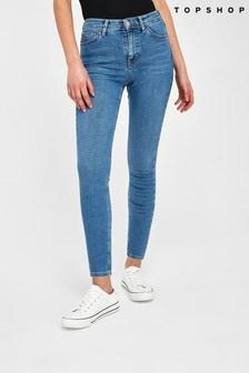 Topshop Blue Petite Jamie Jeans
