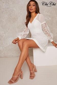 Chi Chi London White Leta Dress