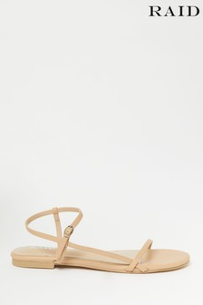 Raid Tan Elfred Square Toe Strappy Sandal