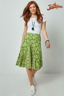 Joe Browns Green Glorious Godet Skirt