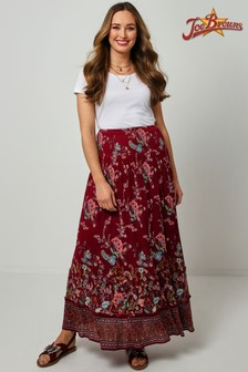 Joe Browns Red Modern Boho Skirt
