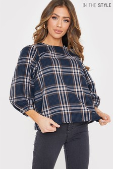 In The Style Jac Jossa Check Smock Top