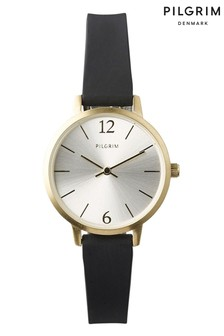 PILGRIM Black and Gold Plated Bianca Watch