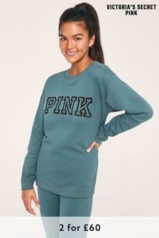 Victoria's Secret Pink Blue Fleece Pullover