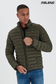 Blend Khaki Lightweight Puffer Jacket
