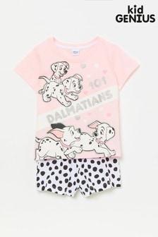 Kid Genius Pink 101 Dalmatians Shorty PJ Set