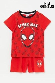 Kid Genius Red Spiderman Short Pj Set