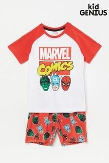 Kid Genius Red Marvel Comics Raglan Pj Set