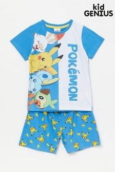 Kid Genius Blue Pokemon Pj Set