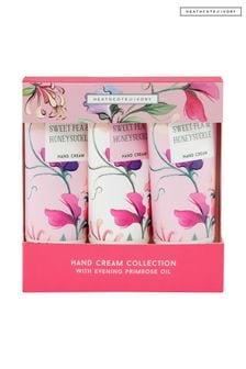 Heathcote & Ivory New Sweetpea and Honeysuckle Hand Cream Collection