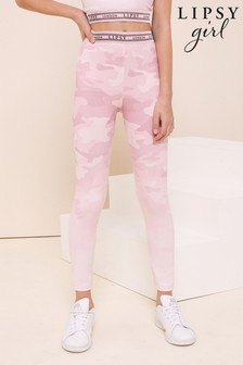 Lipsy Pink Camo Active Leggings