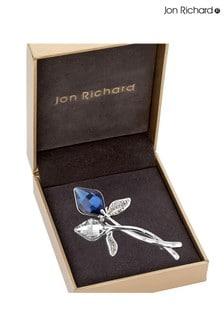 Jon Richard Silver Montana Lily Brooch in a Gift Box