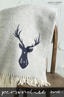 Personalised Stag Throw by Jonny's Sister