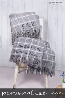 Personalised Wool Check Throw by Jonny's Sister