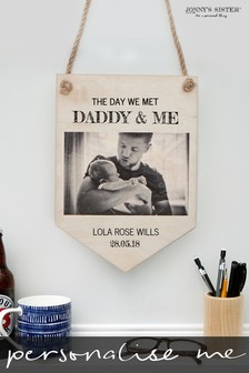 Personalised New Dad Pennant by Jonny's Sister