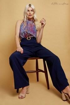 Little Mistress Multi Mirela Spot Print Belted Jumpsuit