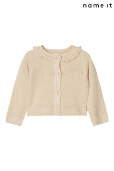 Name It Neutral Frill Detail Cardigan