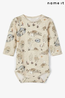 Name It Neutral Baby Printed Long Sleeve Body