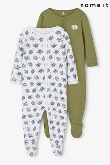 Name It Green Baby 2 Pack Sleepsuit