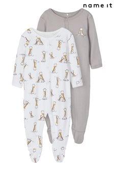 Name It Grey 2 Pack Sleepsuit