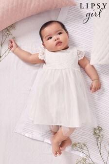 Lipsy Ivory Baby Flower Girl Dress