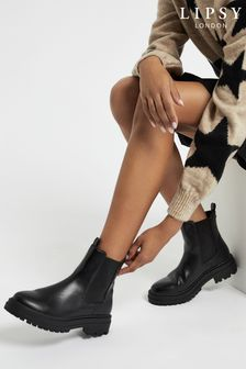 Lipsy Black Chunky Chelsea Ankle Boot