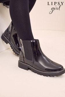 Lipsy Black Patent Chelsea Boot (Older)