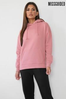 Missguided Pink Basic Hoodie