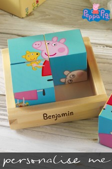 Personalised Peppa Pig™ Puzzle Blocks by Signature PG