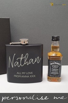 Personalised Hip Flask & Whiskey by Signature Gifts