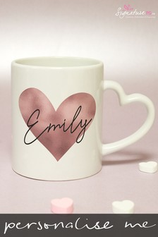 Personalised Heart Handled Mug by Signature PG