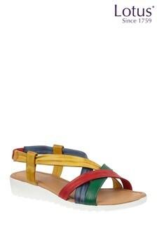 Lotus Footwear Brown Leather OpenToe Sandals