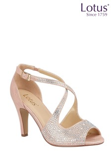 Lotus Footwear Pink Ankle Strap Open Toe Shoes