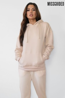 Missguided Neutral Basic Hoodie
