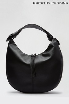 Dorothy Perkins Black Sorrento Pu Hobo Bag