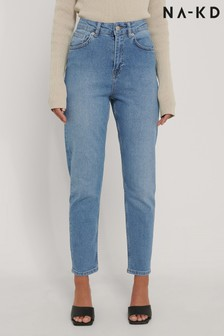 NA-KD Light Blue Organic Mom Jeans