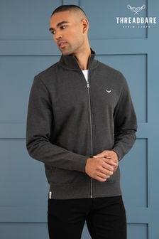 Threadbare Grey Whylie Zip Through Sweatshirt