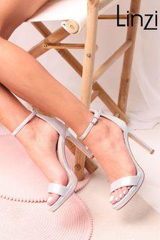 Linzi Silver Gabriella Barely There Stiletto Heel With Slight Platform