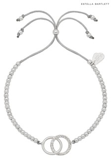 Estella Bartlett Silver Interlinked Rings Liberty Bracelet