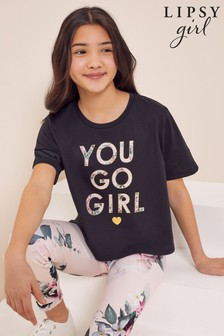 Lipsy Pink Floral Sports T-Shirt