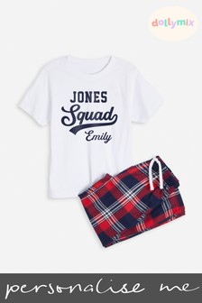 Personalised Kids Family PJ's by Dolly Mix