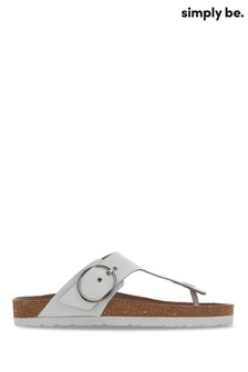 Simply Be White KRISTEN SANDAL STAND