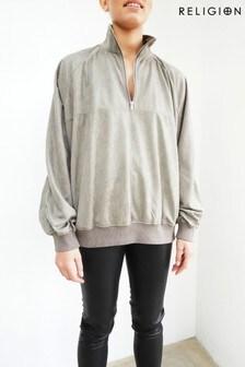 Religion Grey Funnel Lounge Sweatshirt