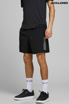 Jack & Jones Black Mens Running Shorts