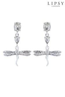 Lipsy Jewellery Gold Crystal Multi Stone Dragonfly Drop Earrings
