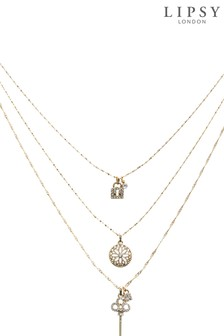 Lipsy Jewellery Gold Plated Layer Necklace