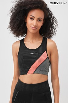 Only Black Colour Block Detail Gym Bra