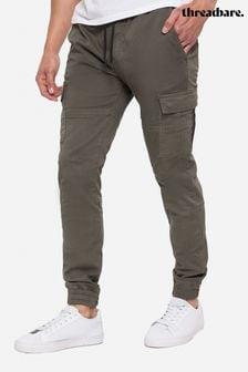 Threadbare Khaki Bloomfield Cargo Trousers