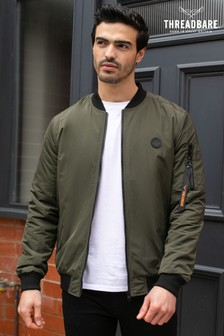 Threadbare Khaki Rasen Bomber Jacket