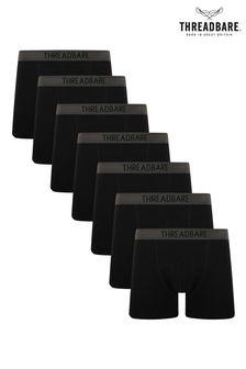 Threadbare Black 7 Pack Prisms Trunks